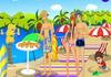 Game Hôn lén trên bãi biển 4
