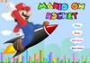 Game Mario cưỡi tên lửa
