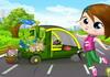 Game Lái xe nhặt hoa