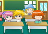 Game Hôn lén trong lớp 6