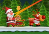 Game Ông già Noel chơi ném vật