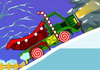 Game Lái xe chở quà Noel